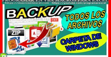 Backup comprimido de carpetas y archivos en ZIP