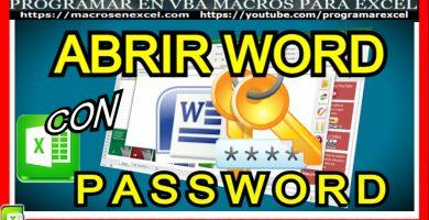 Macro Excel abre archivo Word con password