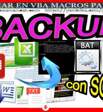 Ejecutar archivo por lotes con excel y hacer backup