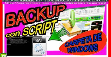 macro ejecuta fichero bat y hacer backup
